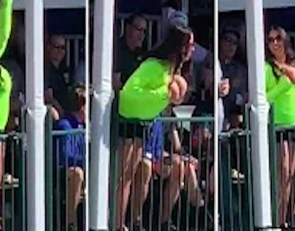 (Video)Woman Repeatedly Flashes Golfers at Waste Management Phoenix Open